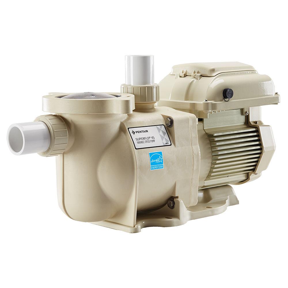 Pentair superflo vs variable speed pool pump 115 230v for High efficiency pool pump motor