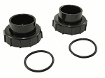 16B - Bulkhead union, 2 in. (set), Black, for filters after 5/21/05