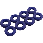 24 - Polaris Sweep Hose Wear Ring, Blue-  8 Pack